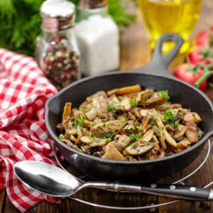 Sauteed mushrooms for tagliatelle