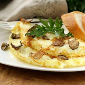 Baked Truffle omelettes