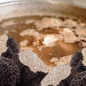 Beef broth with truffle